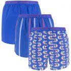3-pack woven slim fit ck one logo & stripe blauw