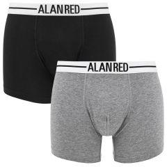 lasting 2-pack boxers grijs & zwart