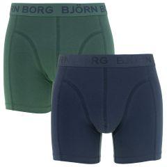 2-pack seasonal solid blauw & groen II