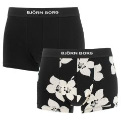 2-pack graphic floral tyron trunks zwart & wit