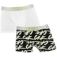 jongens customized stretch 2-pack logo motive wit & zwart