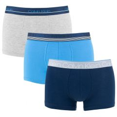 limited edition 3-pack trunks combi blauw & grijs