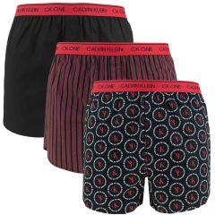3-pack ck one woven slim fit logo stripe multi