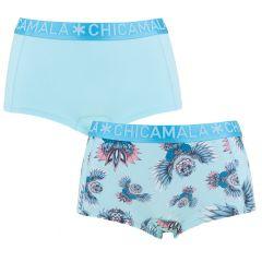 dames 2-pack shorts owli turquoise
