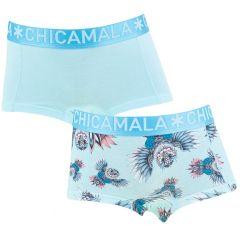 meisjes 2-pack shorts owli turquoise