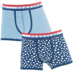 jongens 2-pack star stripes blauw & wit