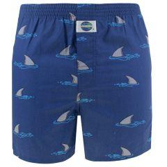 boxershort shark fin blauw