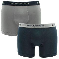 boxers 2-pack navy & grijs