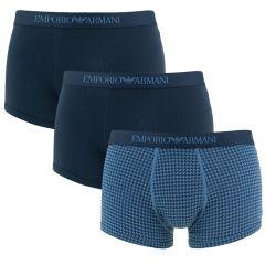 stretch print trunk 3-pack blauw