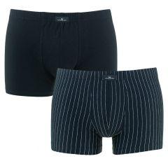 2-pack boxers gestreept zwart