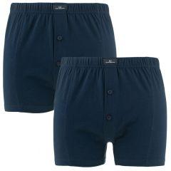 2-pack wijde boxers blauw