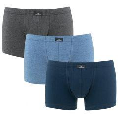 3-pack boxers basic blauw & grijs