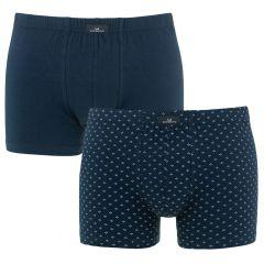 2-pack boxers minimal print blauw