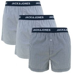 check woven 3-pack blauw