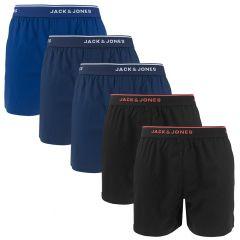 mick 5-pack woven boxers blauw & zwart