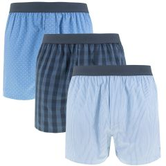 woven boxers 3-pack blauw
