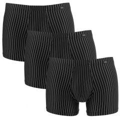 microfiber 3-pack stripe zwart