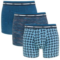 3-pack mixed prints blauw