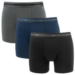 bamboe 3-pack zwart, grijs & blauw