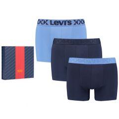 giftbox 3-pack denim geo elastics blauw