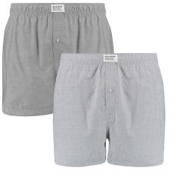 basic woven boxers 2-pack grijs
