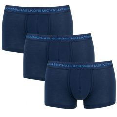 3-pack supima basic trunks blauw