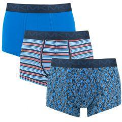 3-pack trunks streep & logo blauw