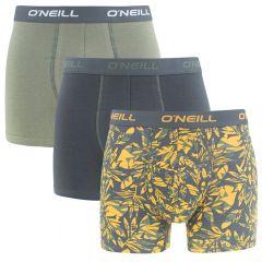 boxers 3-pack palm groen & grijs