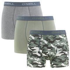 boxers 3-pack camo groen & grijs