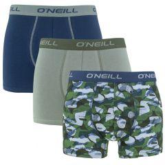 boxers 3-pack camo & plain groen & blauw