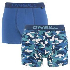 boxers 2-pack camo blauw