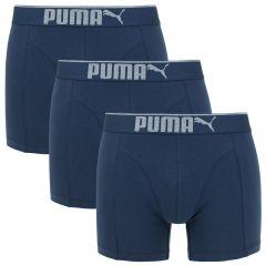 premium sueded cotton boxers 3-pack blauw