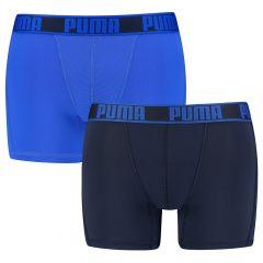 active microfiber boxers 2-pack blauw