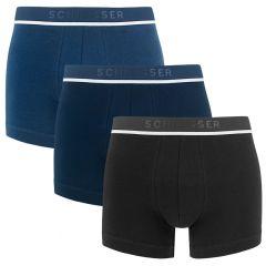 95/5 3-pack classic shorts blauw en zwart