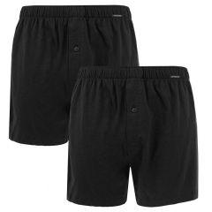 jersey 2-pack wijde boxers zwart
