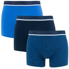 3-pack print shorts blauw II