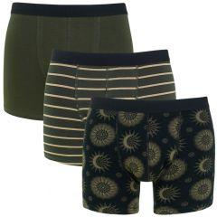 3-pack zon & streep groen