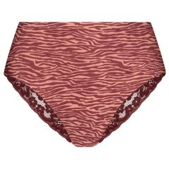 dames secrets kant high waist brazilian zebra multi
