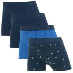 jongens rocket 4-pack shorts blauw