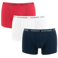 3-pack trunks basic logotaille wit, blauw & rood