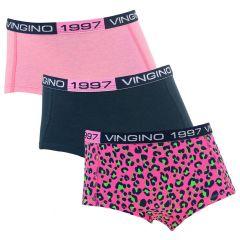 meisjes 3-pack bella roze & blauw
